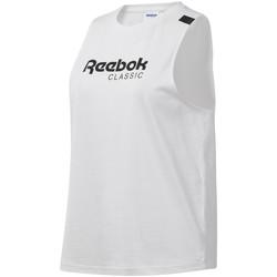 Textil Ženy Tílka / Trička bez rukávů  Reebok Sport DT7235 Bílý