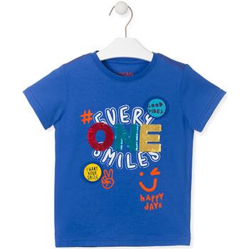 Textil Děti Trička s krátkým rukávem Losan 015-1032AL Modrý
