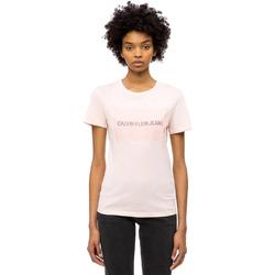 Textil Ženy Trička s krátkým rukávem Calvin Klein Jeans J20J208606 Růžový