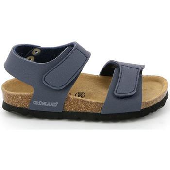 Boty Děti Sandály Grunland SB0014 Modrý