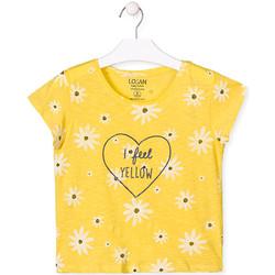 Textil Dívčí Trička s krátkým rukávem Losan 014-1013AL Žlutá