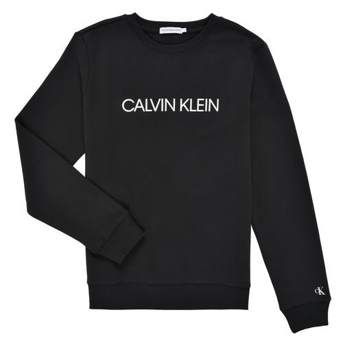 Textil Děti Mikiny Calvin Klein Jeans INSTITUTIONAL LOGO SWEATSHIRT Černá