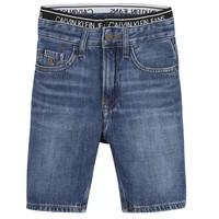 Textil Chlapecké Kraťasy / Bermudy Calvin Klein Jeans AUTHENTIC LIGHT WEIGHT Modrá