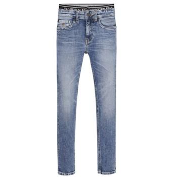 Textil Chlapecké Rifle skinny Calvin Klein Jeans SKINNY VINTAGE LIGHT BLUE Modrá