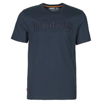 Textil Muži Trička s krátkým rukávem Timberland SS OUTDOOR HERITAGE LINEAR LOGO TEE REGULAR Tmavě modrá