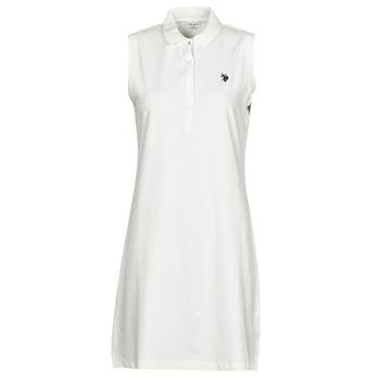 Textil Ženy Krátké šaty U.S Polo Assn. AMY DRESS POLO SLEEVELESS Bílá