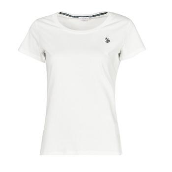 Textil Ženy Trička s krátkým rukávem U.S Polo Assn. BELLA R NECK TEE SS Bílá