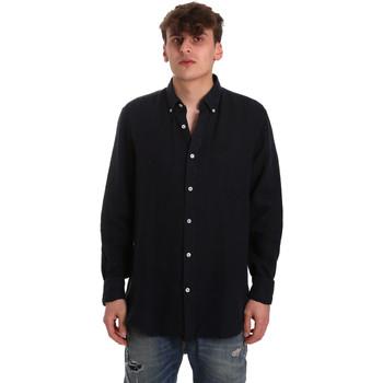 Textil Muži Košile s dlouhymi rukávy Navigare NV91108 Modrý
