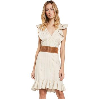 Textil Ženy Krátké šaty Gaudi 011FD15057 Béžový