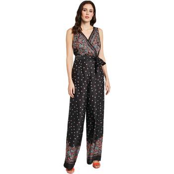 Textil Ženy Overaly / Kalhoty s laclem Gaudi 011FD25027 Černá
