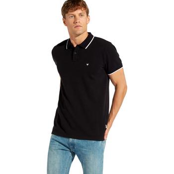 Textil Muži Polo s krátkými rukávy Wrangler W7C10K Černá