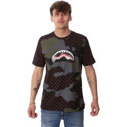 Textil Muži Trička s krátkým rukávem Sprayground SP01820BRO Hnědý