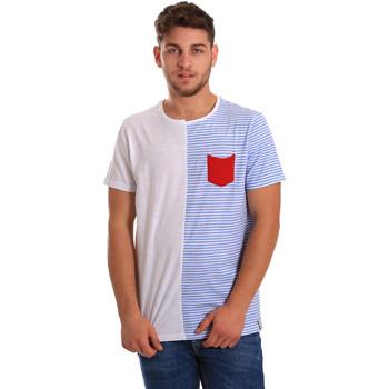 Textil Muži Trička s krátkým rukávem Gaudi 811FU64046 Bílý