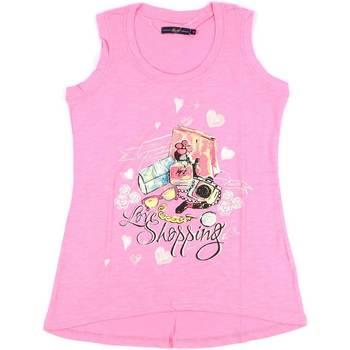 Textil Ženy Tílka / Trička bez rukávů  Key Up S88Z 0001 Růžový