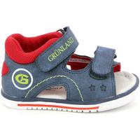 Boty Děti Sandály Grunland PS0017 Modrý