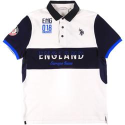 Textil Muži Polo s krátkými rukávy U.S Polo Assn. 43773 41029 Bílý