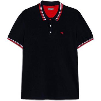 Textil Muži Polo s krátkými rukávy Nero Giardini E072390U Modrý