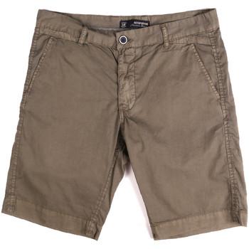 Textil Muži Kraťasy / Bermudy Key Up 2P17A 0001 Hnědý