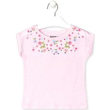 Textil Děti Trička s krátkým rukávem Losan 016-1003AL Růžový