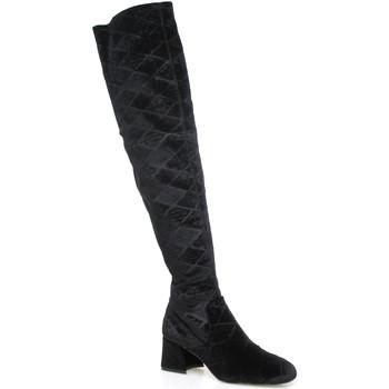 Boty Ženy Vysoké kozačky nad kolena Apepazza SHR06 Černá