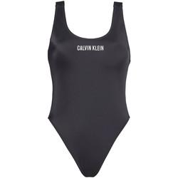 Textil Ženy jednodílné plavky Calvin Klein Jeans KW0KW00980 Černá