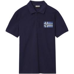 Textil Muži Polo s krátkými rukávy Napapijri NP0A4E2K Modrý