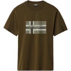 Textil Muži Trička s krátkým rukávem Napapijri NP0A4E38 Zelený
