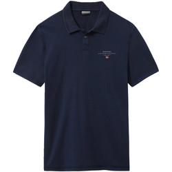 Textil Muži Polo s krátkými rukávy Napapijri NP0A4E2L Modrý