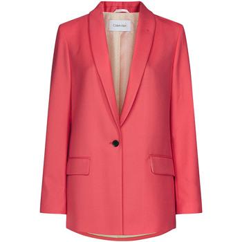 Textil Ženy Saka / Blejzry Calvin Klein Jeans K20K201774 Růžový