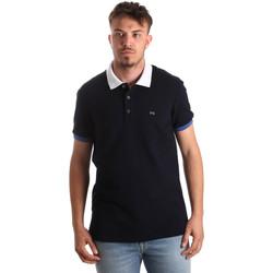 Textil Muži Polo s krátkými rukávy Nero Giardini P972240U Modrý