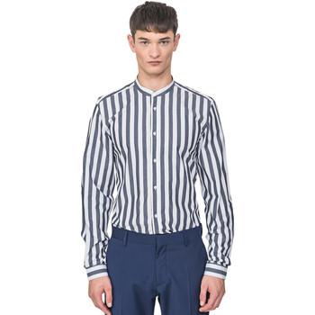 Textil Muži Košile s dlouhymi rukávy Antony Morato MMSL00604 FA420096 Modrý