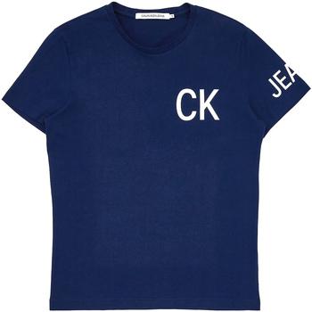 Textil Muži Trička s krátkým rukávem Calvin Klein Jeans J30J312754 Modrý