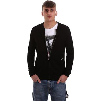 Textil Muži Svetry / Svetry se zapínáním Gaudi 921BU53015 Černá