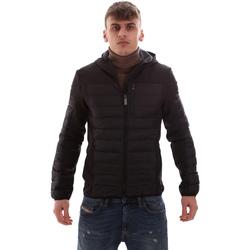Textil Muži Prošívané bundy Lumberjack CM69422 001 601 Černá