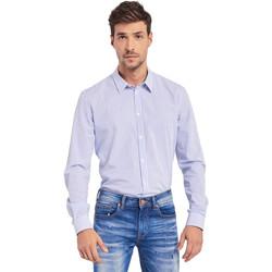 Textil Muži Košile s dlouhymi rukávy Gaudi 011BU45032 Bílý