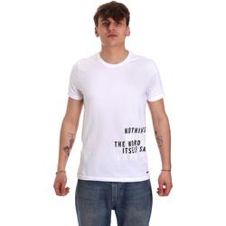 Textil Muži Trička s krátkým rukávem Gaudi 011BU64071 Bílý