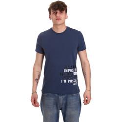 Textil Muži Trička s krátkým rukávem Gaudi 011BU64071 Modrý