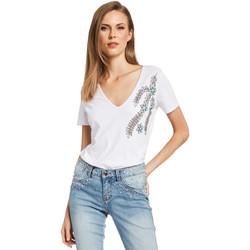 Textil Ženy Trička s krátkým rukávem Gaudi 011BD64017 Bílý