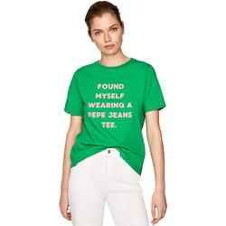 Textil Ženy Trička s krátkým rukávem Pepe jeans PL504463 Zelený