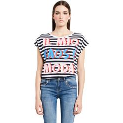 Textil Ženy Trička s krátkým rukávem Denny Rose 011ND64017 Bílý