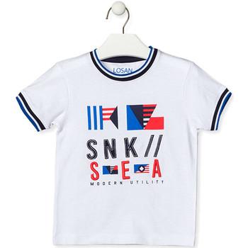 Textil Děti Trička s krátkým rukávem Losan 015-1000AL Bílý