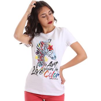 Textil Ženy Trička s krátkým rukávem Gaudi 011BD64003 Bílý