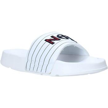 Boty Muži pantofle Navigare NAM019050 Bílý