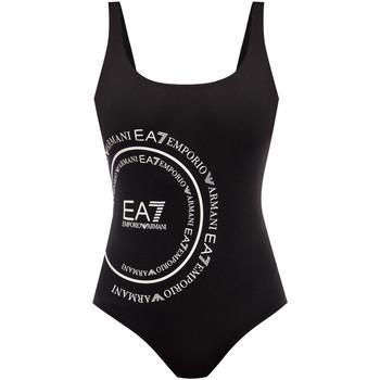 Textil Ženy jednodílné plavky Ea7 Emporio Armani 911128 0P427 Černá