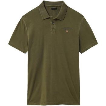 Textil Muži Polo s krátkými rukávy Napapijri NP0A4E2L Zelený