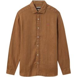Textil Muži Košile s dlouhymi rukávy Napapijri NP000IL7 Hnědý