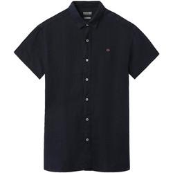 Textil Muži Košile s krátkými rukávy Napapijri NP000IF1 Modrý
