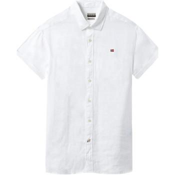 Textil Muži Košile s krátkými rukávy Napapijri NP000IF1 Bílý