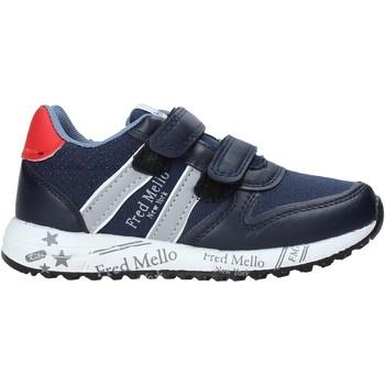 Boty Chlapecké Nízké tenisky Fred Mello S20-SFK318 Modrý