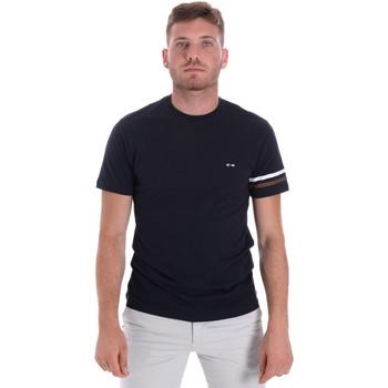 Textil Muži Trička s krátkým rukávem Les Copains 9U9014 Modrý